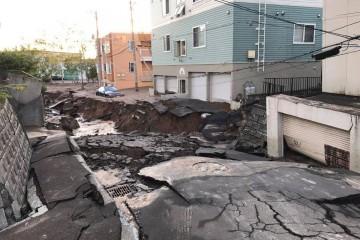 Toàn cảnh thiệt hại để lại ở khu vực Aoiba – Hokkaido sau trận động đất cực mạnh sáng nay
